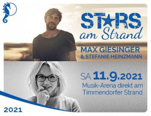 Stars am Strand - Max Giesinger & Stefanie Heinzmann